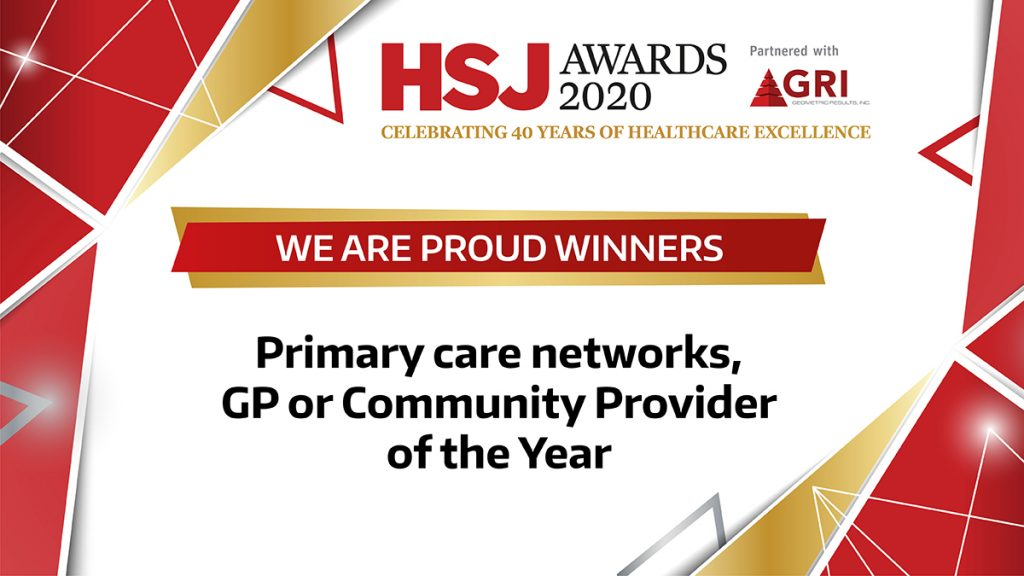 HSJ Awards 2020 W Primary-care-networks-GP or Community Provider logo
