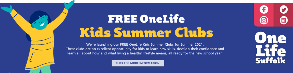 OneLife Suffolk Free Kids Summer camps